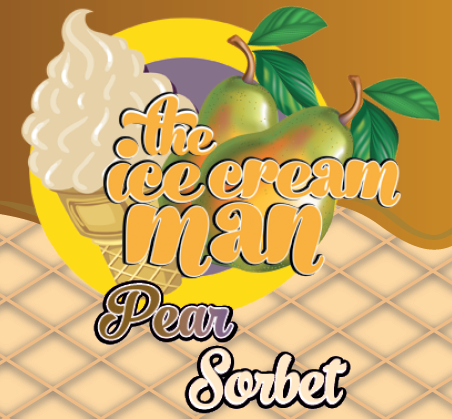 Pear Sorbet Icecream Concentrate - 30ml The Icecream Man
