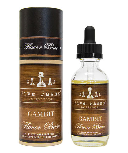 Five Pawns Gambit - 50ml Glass Bottle 60ml - (Preparado para adicionar 10ml NicShot)