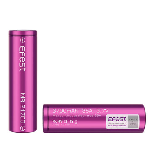 Efest IMR 21700 3700mAh 35A flat top battery