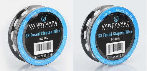 SS316L Fused Clapton Wire by Vandy Vape