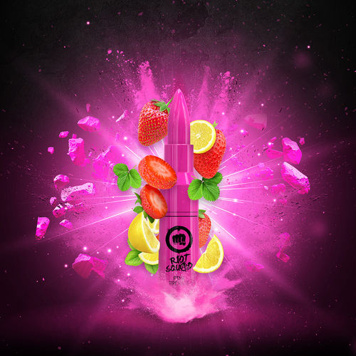 Riot Squad - PINK GRENADE (50ml em bottle 60ml Short Fill)