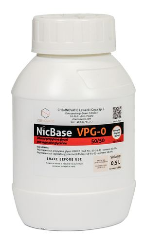 Nic Base VPG-0 50/50 - 500ml - Chemnovatic