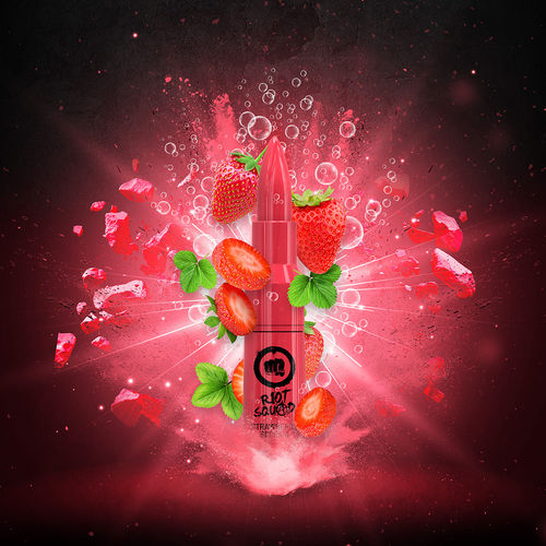 Riot Squad - STRAWBERRY SCREAM (50ml em bottle 60ml Short Fill)