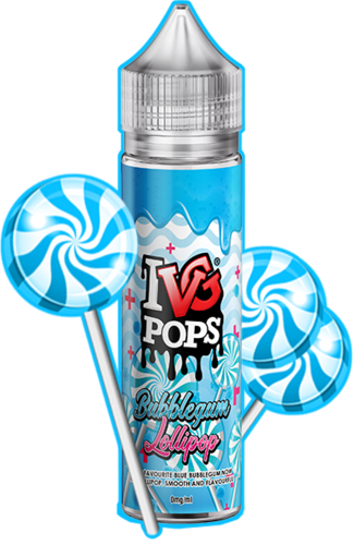 I VG POPS Bubblegum Lollipops - 50ml em Unicorn bottle 60ml - (NicShot Ready)