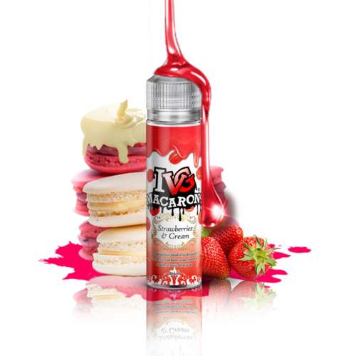 I VG Macarron Strawberries and Cream - 50ml em Unicorn bottle 60ml - (NicShot Ready)