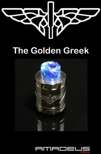 Golden Greek Amadeus RDA by Imeo Thanasis - 24mm Shinned