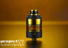 PROJECT X Black and Gold RTA by HUSSAR VAPES