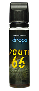 Drops Route 66 - 50ml em Unicorn bottle 60ml - (Preparado para adicionar 10ml NicShot)
