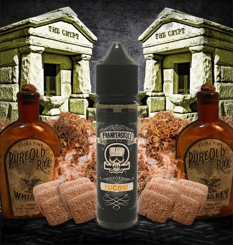 FrankenSkull LUGOSI - 50ml em Unicorn bottle 60ml - (Preparado para adicionar 10ml NicShot)