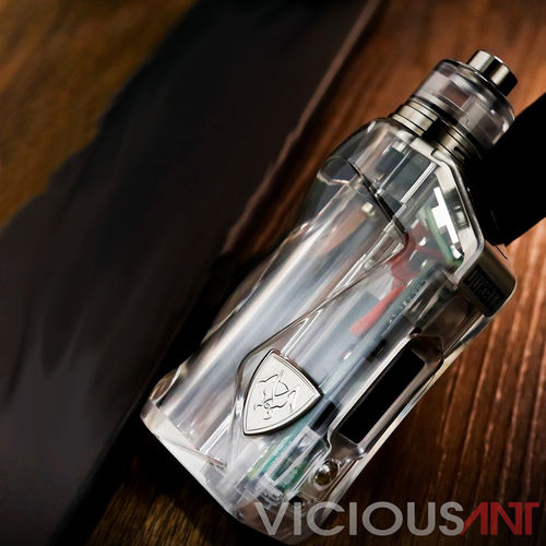 DUKE II SX 18650 CLEAR ICE TI by Vicious Ant ((Titanium limited edition)