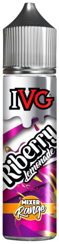 IVG Riberry Lemonade - 50ml em Unicorn bottle 60ml - (NicShot Ready)