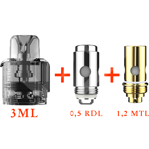 Innokin Sceptre replacement Pod 4ml + 2 coils (1,2 ohm + 0,5 ohm)